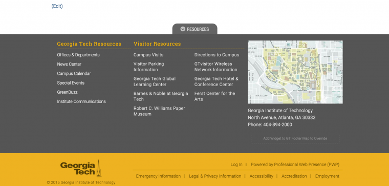 Georgia Tech Webmasters Knowledge Base
